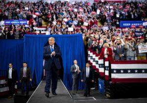 Trump rally draws in a huge numbers of democrats in Milwaukee, Wisconsin