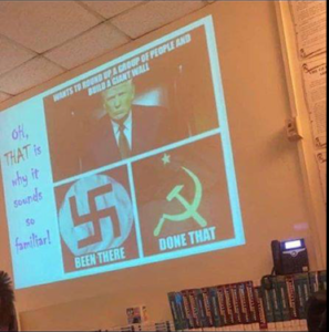 Baltimore High School history lesson compares Trump to Nazis, Communists