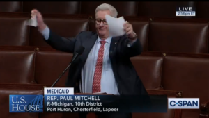 Rep. Paul Mitchell ripping/tearing/shredding Democratic resolution on the house floor