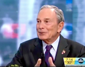 """Video: Bloomberg """"I know Donald Trump He's a great guy. I'm a big fan of Donald Trump."""""""