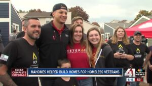 Super Bowl MVP Patrick Mahomes spends his free time building houses for veterans