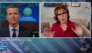 Joy Behar Tries to get Gavin Newsom to trash Trump, Backfires as Newsom Praises Trump Instead