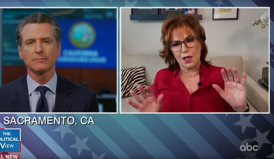 Joy Behar Tries to get Gavin Newsom to trash Trump, Backfires as Newsom Praises Trump Instead