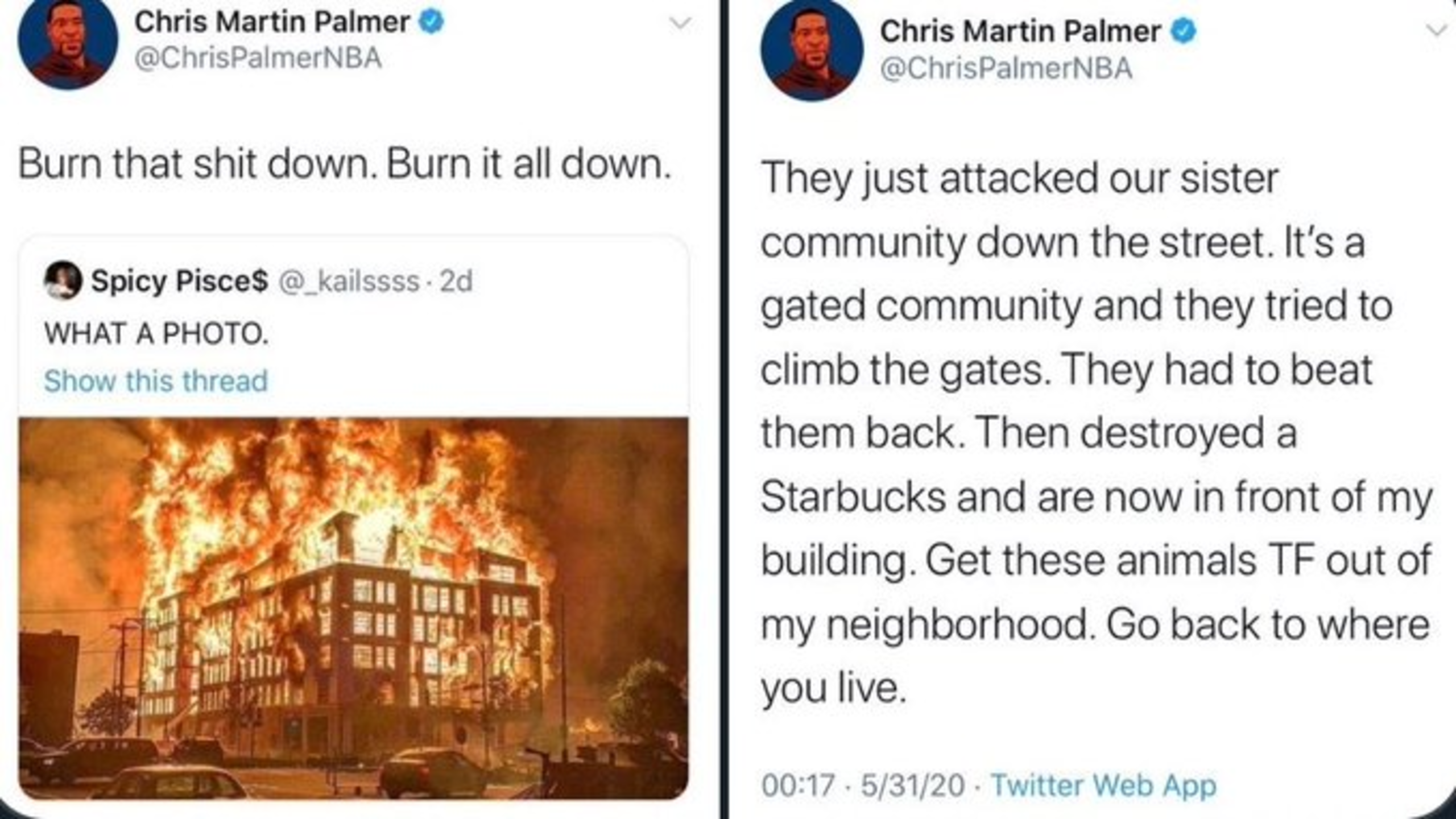 "Liberal Writer For ESPN Encourages Terrorists to ""Burn Down"" Low-Income Housing Unit"