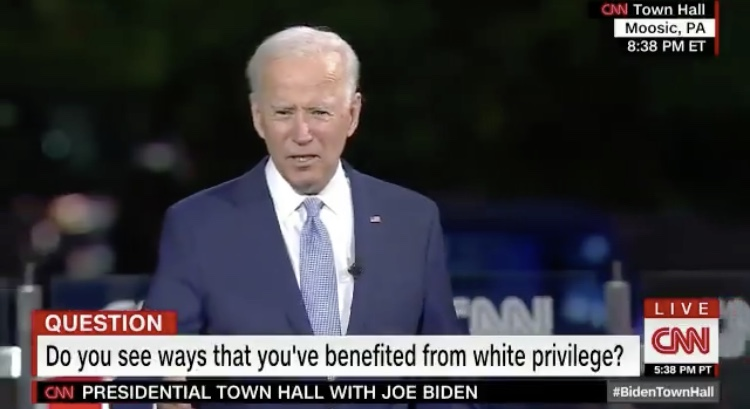 WATCH: Biden says he's benefited from White privilege during town hall event