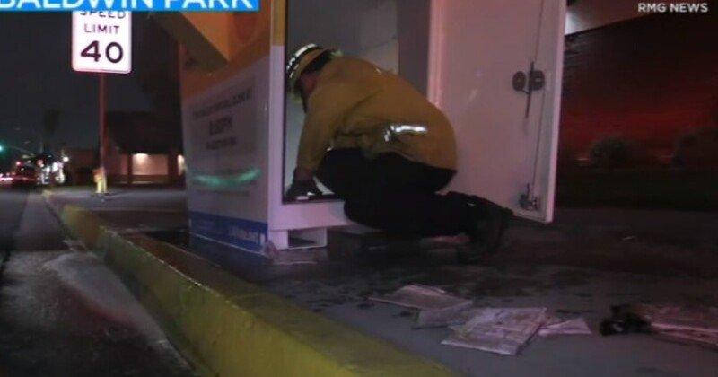 FIRE INTENTIONALLY SET INSIDE BALLOT BOX IN BALDWIN PARK, OFFICIALS SAY