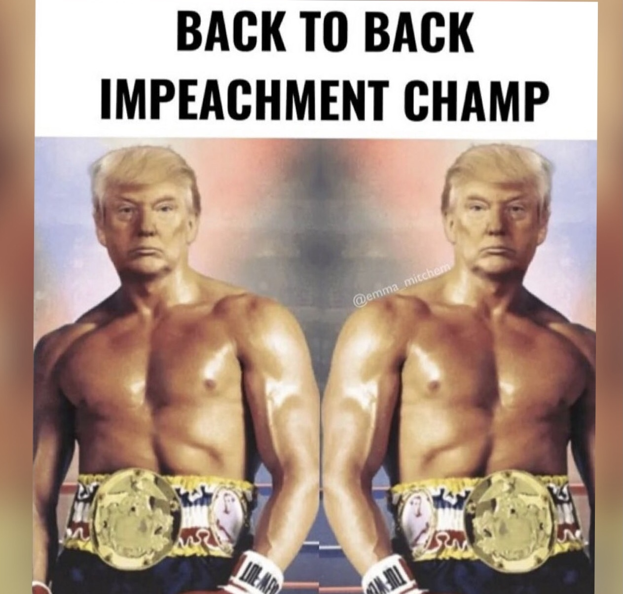 Back to Back Impeachment Champ